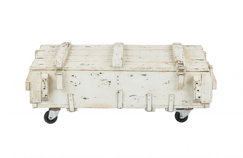 ARMY COFFEETABLE WHITE     - CAFE, SIDETABLES