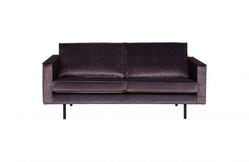 RD VELVET SOFA 2,5 SEATER GREY - CONTEMPORARY SOFA