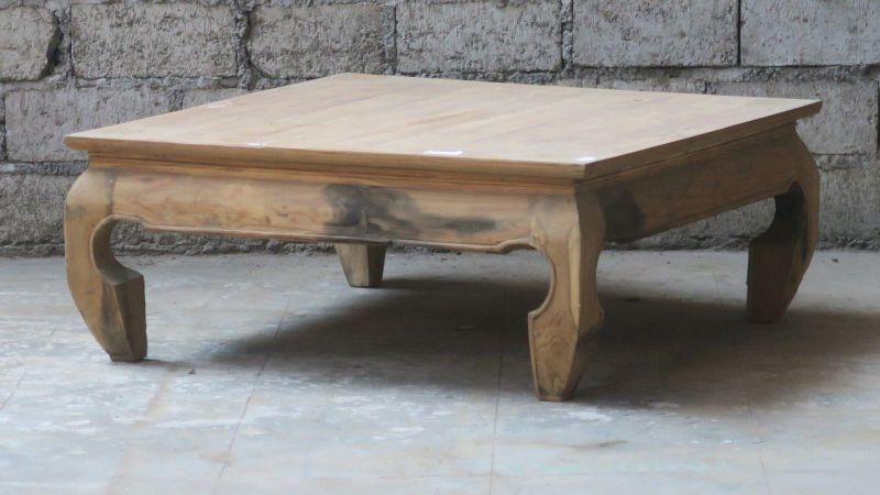 NATUR TEAK OPIUM CAFE TABLE 100     - CAFE, SIDETABLES
