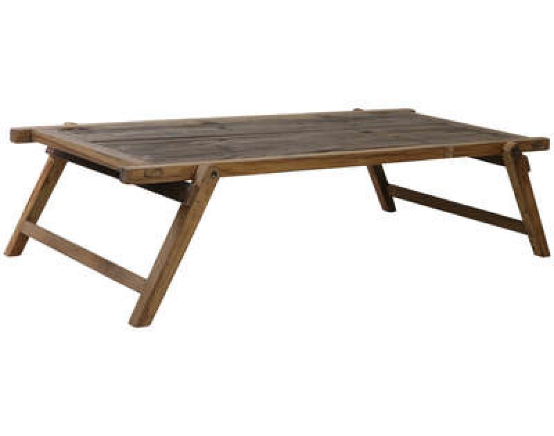 WOOD FOLDING COFFEE TABLE MILITARY   - BENCHES