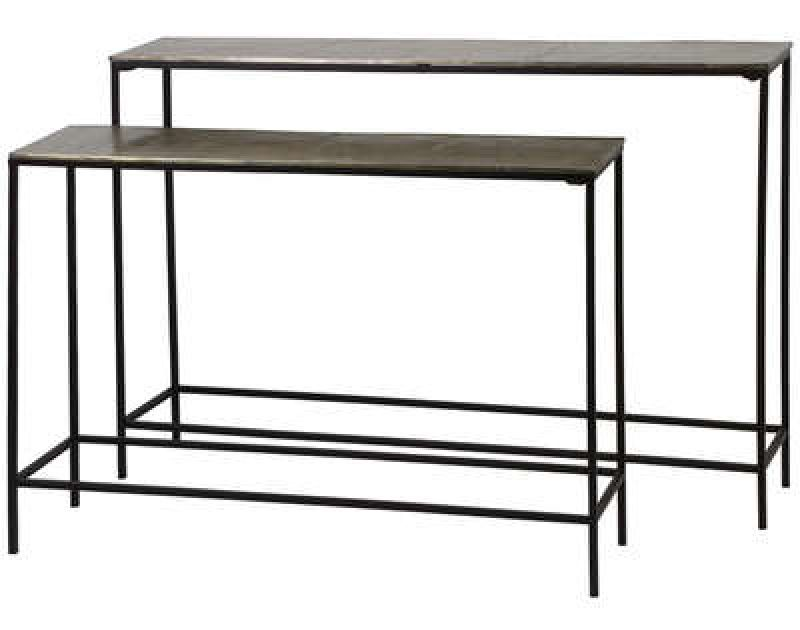 CONSOLE TABLE FILIGREE METAL BRONZE 2 SIZES - CONSOLS, DESKS