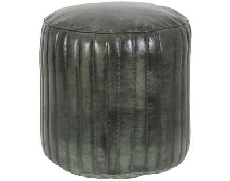 POUF GREEN LEATHER    - CHAIRS, STOOLS