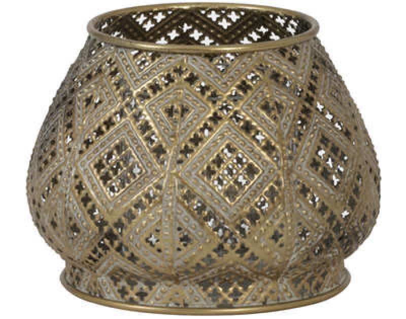 TEALIGHT MAWAR ANTIQUE GOLD    - CANDLE HOLDERS