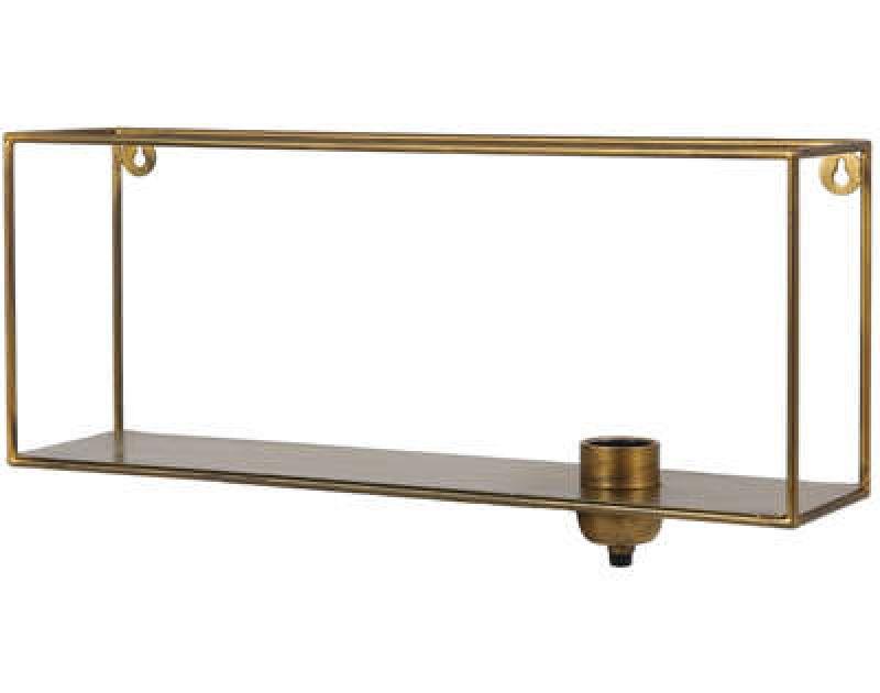 SHELF WALL LAMP ANTIQUE GOLD 50   - WALL LAMPS