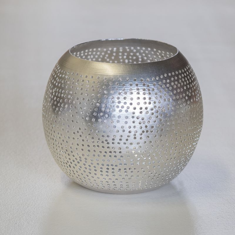 WAXHOLDER ROUND SILVER    - CANDLE HOLDERS