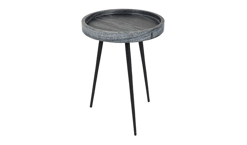 SIDE TABLE GREY MARBLE     - CAFE, SIDETABLES