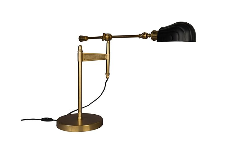 DESK LAMP CONV BRASS POWDER COATED IRON     - TABLE LAMPS