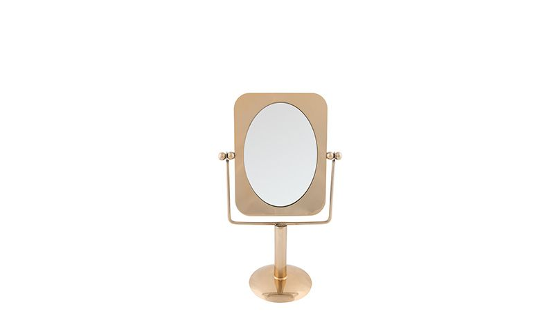 TABLE MAKEUP MIRROR GOLD COLOR