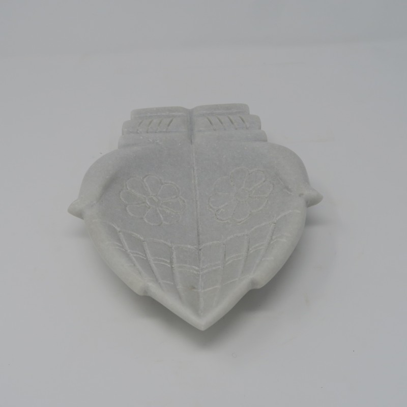 INDIAN MARBLE HAND PLATE       - DECOR ITEMS