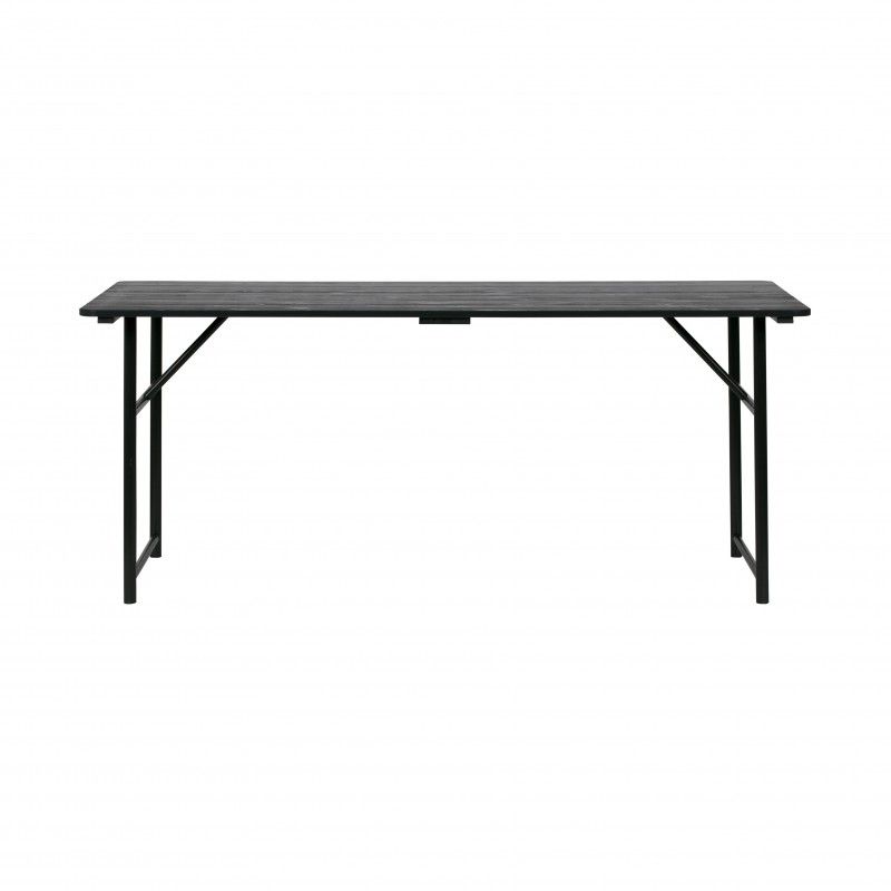 IRON LEGS TABLE BLACK       - DINING TABLES