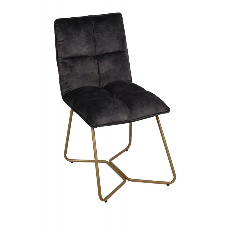 GM9WAT_CHAIR BURANO ANTHRACITE_SIZE58X49X86_10KG_250EURO    - CHAIRS, STOOLS