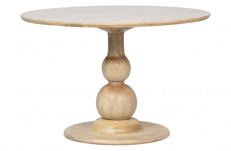 DINING TABLE MANGO WOOD NATURAL       - DINING TABLES