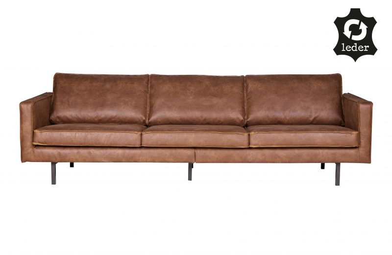 RD RECYCLE LEATHER SOFA COGNAC - CONTEMPORARY SOFA