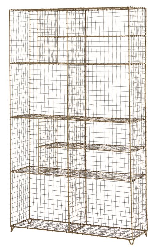 Standing Wire Rack Brass 126 - CABINETS, SHELVES