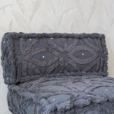 ETERNITY GREY SOFT BACK PILLOWS COMBINE WITH MATTRESS    - CHAIRS, STOOLS