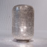 TABLE LAMP LAMPOON MEDIUM SILVER BRASS     - TABLE LAMPS