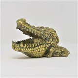 CROCODILE DECO STATUE BRONZE