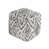 POUF BLACK AND WHITE