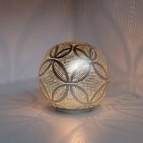 TABLE LAMP HARI BALL SMALL SILVER     - TABLE LAMPS