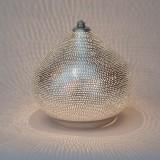 TABLE LAMP HARID SMALL SILVER     - TABLE LAMPS