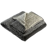 BED COVER GREY VELVET   - BED COVERS