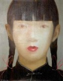 ASIAN GIRL ROUGE LIP WITH PIGTAIL - PAINTINGS
