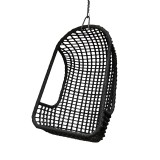 OUTDOOR HANGING CHAIR PE BLACK    - CHAIRS, STOOLS