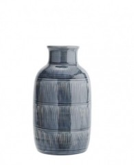 CERAMIC VASE WITH STRIPE      - POTS, VASES