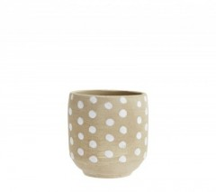 MAMA FLOWER POTS WITH DOTS      - POTS, VASES