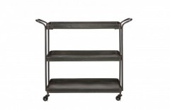 TEA TROLLEY METAL BLACK     - CAFE, SIDETABLES