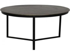 COFFEE TABLE ANTIQUE BRONZ MATT BLACK     - CAFE, SIDETABLES