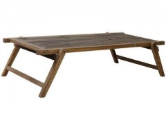 COFFEE TABLE MILITARY WOOD BROWN   - BENCHES