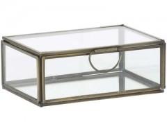 DECO BOX MALESSINA ANTIQUE CLEAR GLASS       - DECOR ITEMS