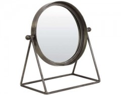 MIRROR TAPOE ANTIQUE ZINC