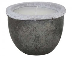 POT DECO WITH CANDLE CANEJA BLACK    - CANDLE HOLDERS