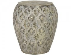 ANTIQUE GOLD SIDETABLE WITH DEEP PATTERN
