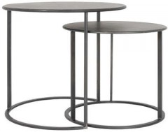 METAL SIDETABLE COLOR BLACK 2 SIZES     - CAFE, SIDETABLES