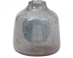 VASE DEONI GLASS STONE FINISH BLUE      - POTS, VASES