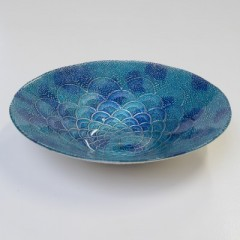 FAN BOWL AQUA MEDIUM BLUE