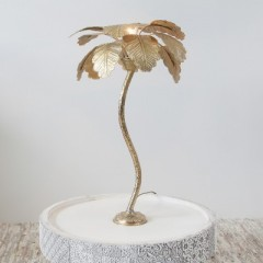 TABLE LAMP PALM TREE SMALL GOLD