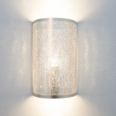 WALL LAMP CYLINDER SILVER