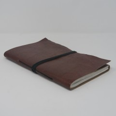 LEATHER NOTE BOOK BROWN