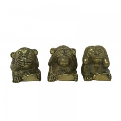 STATUE BRONZE 3 MONKEYS SMALL