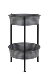 SIDETABLE DOUBLE TRAY ZINC     - CAFE, SIDETABLES