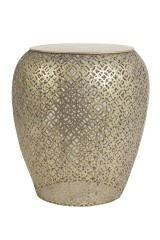 SIDETABLE BRASS OPENWORK PATTERN     - CAFE, SIDETABLES