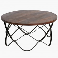 CAFETABLE METAL WAWE LEG 100     - CAFE, SIDETABLES