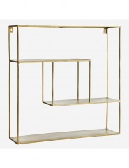 IRON SHELF SQUARE ANTIQ BRASS - CABINETS, SHELVES