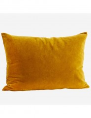 VELVET CUSHION COVER MUSTARD