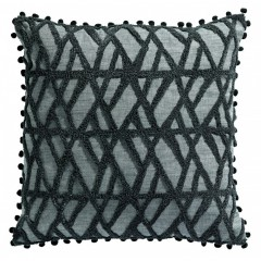 CUSHION GOAMAMA GREY BLACK     - CUSHIONS