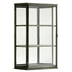 GM9WEJ_METAL GLASS CABINET_SIZE81X58X23_15KG_125EURO - CABINETS, SHELVES